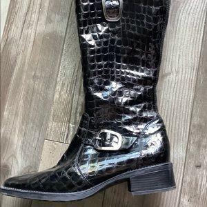 Rieker black winter boots tall 9